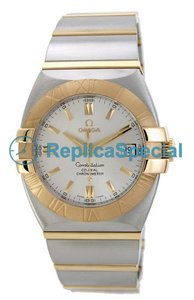 Omega Constellation 1203.30.00 Automaattinen Stainless Steel Gold Bralecet Silver Dial Watch