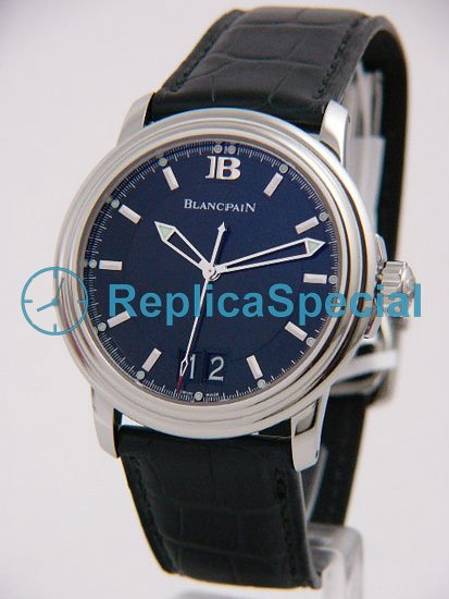 Blancpain Leman 2850-1130-53b armband Automatisk Stainless Steel Case Watch