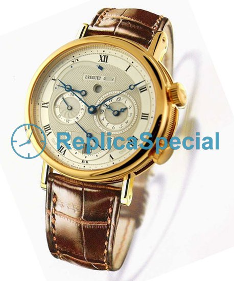 Breguet Classique 5707ba/12/9v6 Silver Dial Dial Automatic 18KT Yellow Gold Case Watch