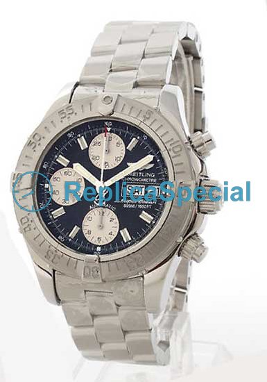 Breitling Aerospace A111B83PRS Black Dial Automatisk Stainless Steel Bralecet Watch