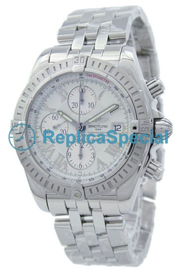 Acciaio inossidabile Breitling Crosswind speciale A156A53PA automatico Bralecet Mens Watch