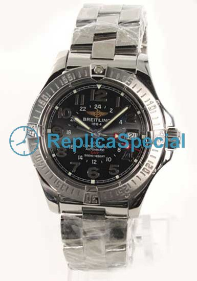 Breitling Colt A311BPRS Black Dial Stainless Steel Kehys ruostumatonta terästä Bralecet Watch