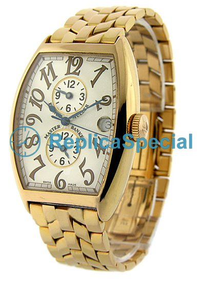 Franck Muller Mästare Banker 6850 MB O Vit Dial Automatic Stainless Steel Bralecet Watch