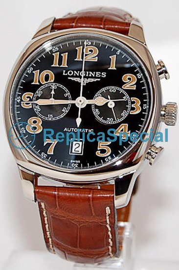 Longines Sport L2.705.4.53.4 Round Black Dial Stainless Steel Bezel Watch