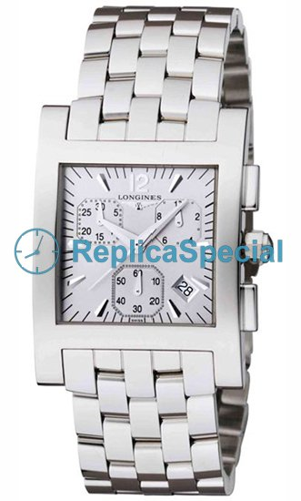 Argento Longines Dolce Vita L5.668.4.76.6 Piazza Dial Stainless Steel Bralecet Mens Watch