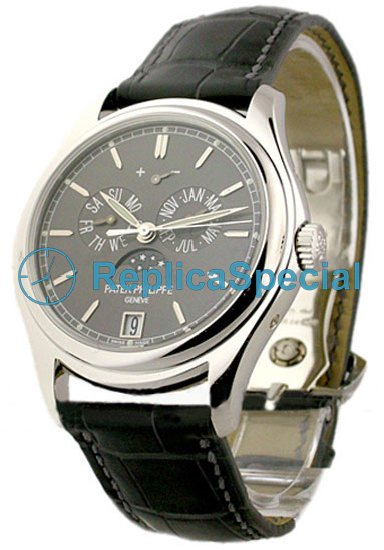 Patek Philippe Complicated 5146P Grey Dial Platinum Case Mens Watch