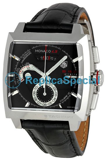 Tag Heuer SLR CAL2110.FC6257 Round Automatic Mens Black Dial Watch
