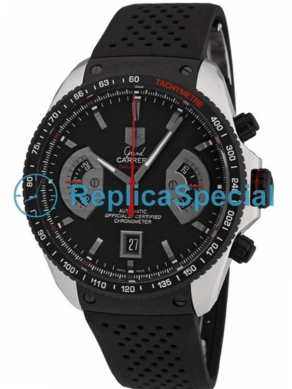 Tag Heuer Carrera CAV511C.FT6016 Mens Stainless Steel Case Black Dial Watch