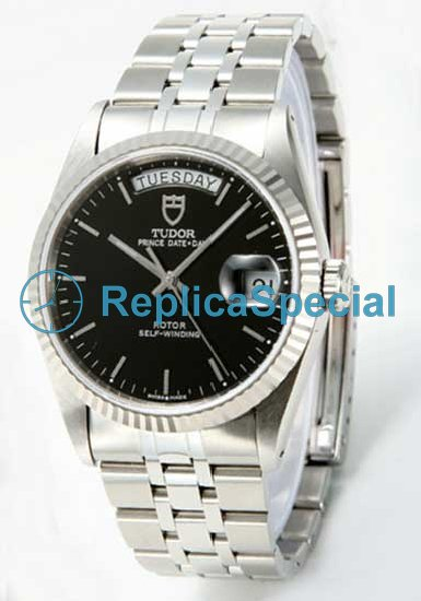 Stainless Steel Tudor Glamour Date- Day Lady TD76214BK Automatic Bralecet Quadrante Nero