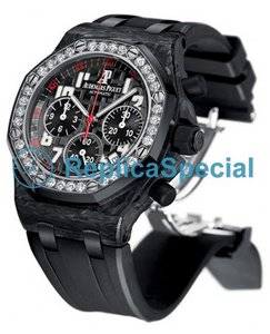 Audemars Piguet Royal Oak Offshore 26267FS.ZZ.D002CA.01 Polygon quadrante nero Womens Watch