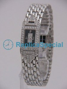 Audemars Piguet Deva Ladies 67029BC.ZZ.1091BC.02 Black Dial Kvarts rektangel Watch