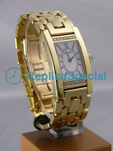 Audemars Piguet Deva Ladies 67260BA.O.1156BA.01 rektangel Mens White Roman Dial Watch