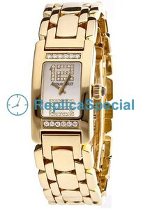 Audemars Piguet Deva Ladies 67361BA.Z.1180BA.03 Womens Diamond Bezel rektangel Watch