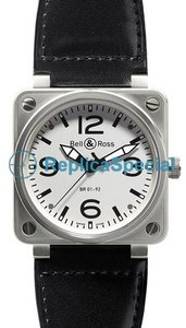 Bell Ross BR01 BR 01-92 White Dial Automatic Mens Stainless Steel Case Watch