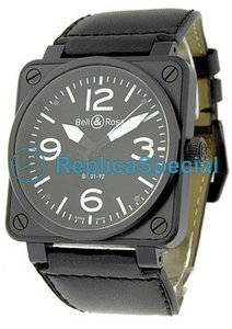 Bell Ross BR01 BR - 01-92 - BLK - CAR - LS Black Dial -plein Automatic Watch