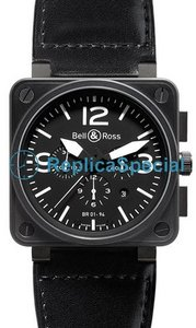 Bell Ross BR01 BR 01-94 Calfskin leather strap Bralecet Mens Automatic Watch