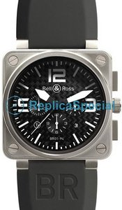 Bell Ross BR01 BR 01-94 Titanium Caso Piazza Mens gomma Bralecet Orologio