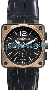 Bell Ross BR01 BR 01-94 Black Dial Mens Square Stainless Steel Case Watch