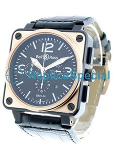 Bell Ross BR01 BR - 01-94 - BICOLOR Blue Dial Crocodile Skin Bralecet Automatic Watch