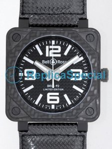 Bell Ross BR01 BR01-92 CARBONIO Leather Bralecet automatica Piazza Orologio