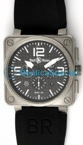Bell Ross BR01 BR01-94 - T Mens gomma Bralecet Piazza Orologio automatico