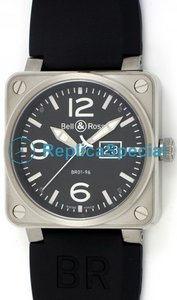 Bell Ross BR01 BR01-96 - S Automatic Rubber Bralecet Piazza Orologio