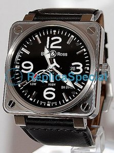 Bell Ross BR01 BR01-97 Leather automatica Bralecet Piazza Orologio