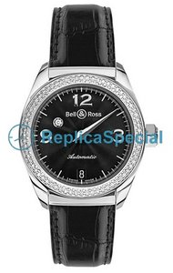 Bell Ross Vintage Mystery Diamond Black 2 krs Musta Dial Unisex Automatic Kello