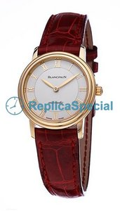 Blancpain Villeret 4750-1442-63 Stainless Steel Bezel armbånd Mens White Dial Watch