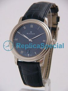 Blancpain Leman Ultraflach 6850-1540-55B Blue Dial Automaattinen Stainless Steel Asia Watch