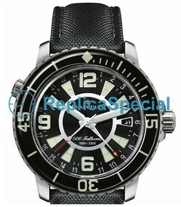 Blancpain 500 Fathoms GMT Bracelet Black Dial Mens Watch