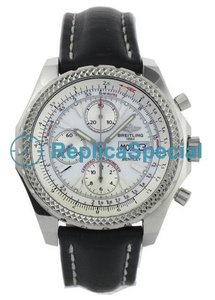 Breitling Bentley 13362 Bracelet White Dial Stainless Steel Bezel Watch