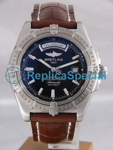Breitling Headwind A 45355-1012 Automatic Leather Bralecet Round Watch