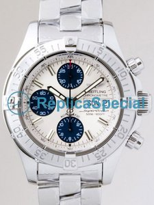 Breitling SuperOcean A1334011/G549 Mens Bracelet White Gold Case White Dial Watch