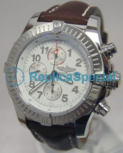 Breitling Avenger A13370 Automatic Crocodile Skin Bralecet Bracelet White Dial Watch
