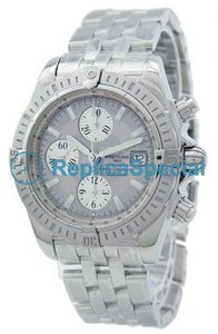Breitling SuperOcean A156E19PA Automatic White Gold Case Grey Dial Watch
