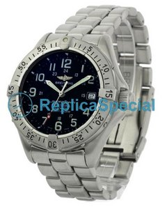 Breitling Superocean A17045 Black Dial Automatisk armband Mens Watch