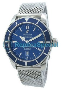 Breitling SuperOcean A172C34OCA Automatic Blue Dial White Gold Case Watch