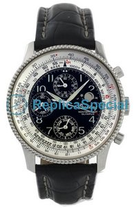 Breitling Montbrillant A19350 Bracelet Mens Automatic Black Dial Watch
