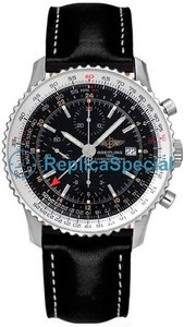 Breitling Navitimer A2432212.B726-BLT Leather Bralecet Bracelet Automatic Watch