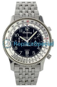 Breitling Montbrillant A35330 Stainless Steel Bezel Stainless Steel Bralecet Mens Watch