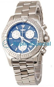 Breitling Chronospace A417B75NP Automatisk Armband Blue Dial Stainless Steel Case Watch