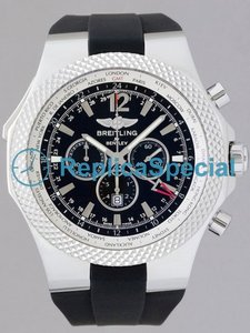 Breitling Chronospace A4736212/B919 Mens Rubber Bralecet Black Dial Watch
