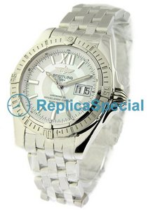 Breitling Cockpit a4935011/a591-ss Automatic Stainless Steel Bralecet White Dial Watch