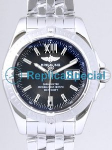 Breitling Cockpit A4935011.F523 Stainless Steel Bezel Automatic Mens Black Dial Watch