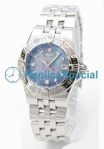 Breitling Callisto A710B98PA Blue Dial Mens Stainless Steel Case Bracelet Watch
