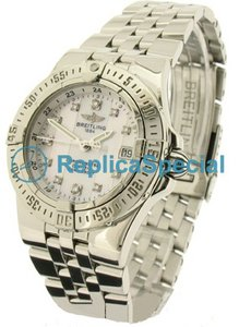 Breitling Galactic A71340 Unisex Runde White Dial Automatikuhr