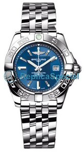 Breitling Galactic A71356 Blue Dial Mens Bracelet Automatic Watch
