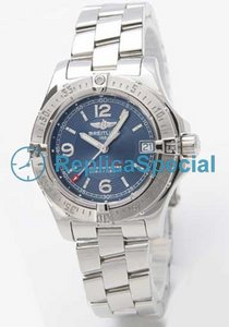 Breitling Chronomat A778C77PRS Blue Dial Stainless Steel Bralecet Mens rannerengas katsella