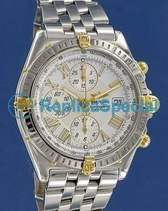 Breitling Cross B13355 Stainless Steel Case armband Mens Watch